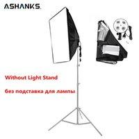 Ashanks 50 * 70 cm / 19 * 27 '' softbox con 1 a 4 accesorios de iluminación de la luz de la lámpara de la lámpara para el estudio de luz de luz de video de la foto Caja suave del difusor