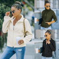 Women's Sweatshirts Clothing 2021 Winter New Fashion cardigan zipper Woolen Coats lady