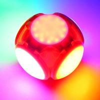 LED Folding Football Bulbs red blue Deformable Light 40W Garage Lighting Shop Lights for 6000K 85-265V crestech168