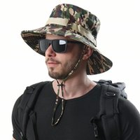 Wide Brim Hats Mens CamoFlage Bucket Hat Hunting Hiking Tactical Fishing Caps Multicam MCAD MCTP MCAP Camo Summer Beach Sun
