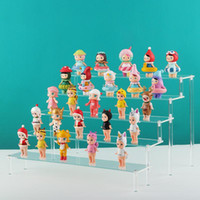 Jewelry Pouches, Bags Acrylic Clear Cartoon Character Ladder Frame Holder Cosmetics Storage Case Detachable Toy Car Model Purse Perfume Disp