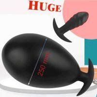 Gonflable de 250mm super grand silicone anus dilatrice anal plug anal dildo pompe femmes sexe jouets femmes vagin stimulent la prostate massage 18 s0824