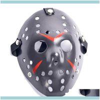 Festive Party Supplies Home & Gardenretro Jason Horror Funny Full Face Mask Bronze Halloween Cosplay Costume Masquerade Masks Scary Hockey M