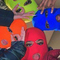 Radkappen Masken 3 Wandern gestrickt voll für Männer Ski Frauen Outdoor Löcher Mode Beanie Gesicht Warme Balaclava Cover Hüte Winter CO