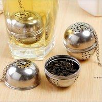 Outil de cuisine 1PCS Spice Oeuf en forme d'argent en acier inoxydable d'acier inoxydable balle de tamponner filtre à thé Filtre de thé Verrouillage NHF9077
