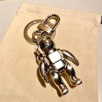 Moda astronauta diseño llavero llavero llavero llavero para hombres y mujeres amantes de fiesta regalo joyería llavero
