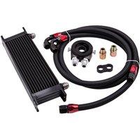 Líneas de petróleo 13 fila AN10 Motor Racing Trust Cooler Oleo con kit de adaptador de filtro de aceite de termostato