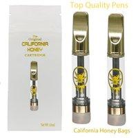 California Honey Cartridges Vapes Pens Disposable Empty Vape Cart Atomizer E Cigarette Carts Packaging 510 Thread Oil Vaporizer 1  0.8ml Bags Manufacture Copper-Tips