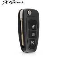 3 Düğmeler Flip Anahtar Katlanır Araba Uzaktan Anahtar Kabuk Ford Focus için MK1 Mondeo Transit Styling Akıllı Anahtar Kapak Kılıf Fob