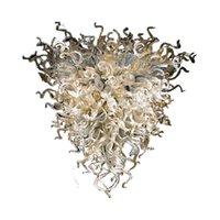 Coral Formight Light Luxury Люстра освещение Светодиодное искусство Стеклянные Подвесные светильники Оформление Комната Рука вручить Стекло Принять настройку