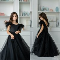 Princess Flower Girls Dresses Jewel Short Sleeves Lace Beading Lovely Kids Formal Wear Backless Floor Length Pageant Gowns