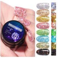 Nail Gel Diamond Reflective Glitter Polish 5ML Sparkling Laser Art Varnish Semi Permanent UV Glue Manicure Tools