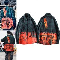 2021 camisas para hombres Mujeres de manga larga de alta calidad Camisas Casuales de la letra impresa Hip Hop Style Ropa con la caja de la etiqueta
