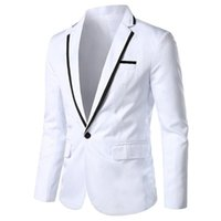 Ternos Masculinos Blazers Debracat Patchwork Terno Jacket Notched Slim Fit Tie Single Bolso Negócio Primavera Outono Homens Casacos