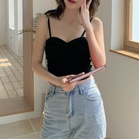 Women's Tanks & Camis Sling Beautiful Back Vest Inside Wear Thin Section Bottom Sexy Wrap Chest Cross Anti-glare Tube Top