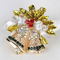 Fashion Diamond Pins Christmas Jewelry Christmas-Brooches Corsage Christmas-Snowman Gift Bell Boots Hat Tree Collar Sleigh Christmas-Decorations Mix Adornments