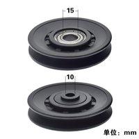 Durable verschleißfeste Nylonlagerscheibe Rad Kabel Gym Fitnessgeräte Zubehör 90/105mm 262 W2