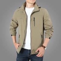 Men's Jackets Jaqueta masculina corta-vento fina, casaco com capuz casual viagens para homens primavera outono 6xl 7xl NE13