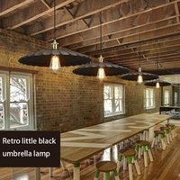 Pendant Lamps American Retro Industrial Style Cafe Restaurant Living Room Bar Table Single Head Iron Flying Saucer Chandelier Lamp