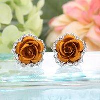 Boucles d'oreilles de designer Bijoux Studio Rose Flower Boucle d'oreille d'amour Bracelet A3