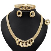 Earrings & Necklace Yulaili Fashion African Jewelery Set Anniversary Party Birthday Dubai Gold Jewelry Sets For Women Earring Wholesale