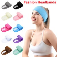Facial Spa Headbands Makeup Hairbands Shower Hair band Girls Turban Sport Headwraps Cotton Towel Hairlace with Magic Tape Face Wash Yoga Running Workout HairPins