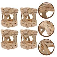 Napkin Rings 4pcs Creative Holder Banquet Weaving Craft Buckles