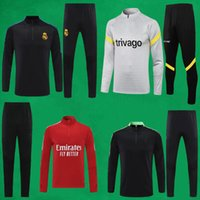 Uomo Football Training Suits 21 22 Real Madrid Soccer Tracksuit CFC Survedement Maillots de Foot Enfants Chandal Kit 2021 2022 Maglione e pantaloni lunghi