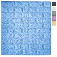 Art3D 5-pack peel e bastone Pannelli di carta da parati 3D per arredamento da parete interne Sfondi in schiuma di schiuma autoadesiva in blu, copre 29 sq.ft