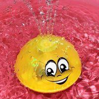사랑스러운 LED 깜박임 전기 유도 스프링클러 음악 공 물 분출 스프링클러 아기 목욕 샤워 거품 어린이 장난감