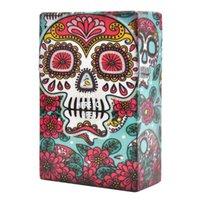 Senaste Creative Skull Head of Ghost Printed Cigeratte Case Mix Color Portable Plastlåda Tryck här för att öppna
