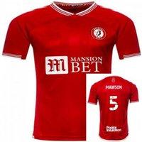 20 21 Бристольский город Футбол Джерси 10 Патерс Моусон Мартин Дильхёу Wells Massengo Kalas Dasilva Custom 2021man Футбольная рубашка