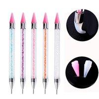 Nail Art Kits Double Head DIY Dotting Painting Pen Rhinestone Picker Manicure Tool