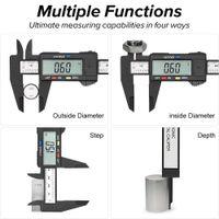 150 мм 100 мм Электронный цифровой суппорт углеродного волокна набор Vernier Microomet Microometer измерительный инструмент цифровой линейку