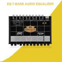 Ecualizador de audio gráfico de sonido de sonido de 7 bandas con entrada de salida trasera frontal de entrada auxiliar