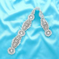 Wedding Sashes SESTHFAR Rhinestone Patches Sew On Crystal Stones And Crystals Sewing Rhinestones For Clothes Evening Dress