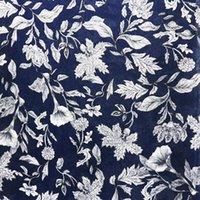 2021 Nouvelle mousseline d'imprimante printemps et robe d'été vêtements de vêtements 75D Twist haut Twist 100% polyester