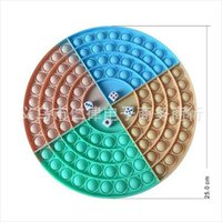 25CM Round Circle Chess Board Push Bubble Popper Board Sensory Fidget Finger Pop Toys Rianbow Large Big Size Poo-its Stress Relief Puzzle Pa