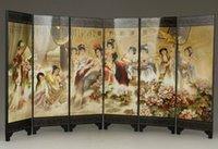 Lo schermo pieghevole della pittura della verniciatura classica cinese squisita delle bellezze è il bagno.