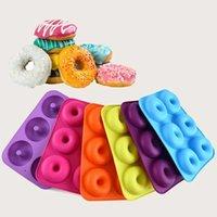 6 cavità antiaderente muffa muffa muffin torta in silicone Donut bakeware cottura muffa muffe stampi pan diy gelatina caramelle 3d stampi CPA3409