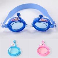 아이들 수영 안경 방수 방광 고글 다이빙 안경 스포츠 여러 가지 빛깔의 유니섹스 소년 소녀 안티 UV 안티 안개 유리 h26smiz