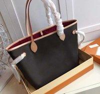 Alta qualidade designer de luxo flor clássico marrom com sacos originais número de série bolsa grande bolsa de compras bolsas totes pacote ombro pacote