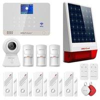 Sistemas de alarme Wolf-Guarda WM2T WiFi GSM Sistema Início com câmera, sensores de detecção e sirene ao ar livre, Tuya App Control