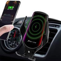 R3 Wireless Ladegerät Automatische Klemmung Smart Sensor Qi Auto Telefonhalterung Halterung für iPhone X XS XR 11 12 Pro Max Samsung Xiaomi-Laden
