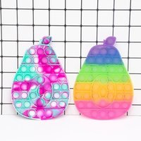 Decompression toy large avocado push bubble fingertip rainbow color pops anti-stress fidgeting Squishy Simple Dimple