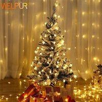 LED Star Light String Twinkle Garlands Battery Powered Christmas Party Fiesta de vacaciones Boda Decorativo Luces de hadas Warm Whtie