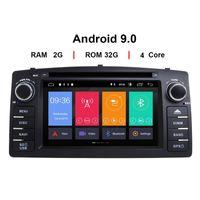 MP4 플레이어 Android 9.0 자동차 DVD 플레이어 Toyota Corolla E120 BYD F3 2 DIN 멀티미디어 스테레오 GPS 자동 라디오 탐색