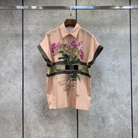 Milan Runway Shirts 2021 Short Sleeve Lapel Neck Print Designer Blouses Brand Same Style Women's 0612-22