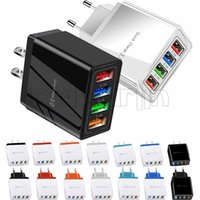 4Ports 5.1A Eu & US Ac Home Travel Wall Charger Adapters For Iphone 11 12 Pro Max Samsung Huawei Android phone pc