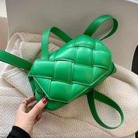 Evening Bags Small Green Weaving Square Flap Women Tote Fashion High-quality PU Leather Female Designer Handbag Luxury Shoulder Crossbody Ba